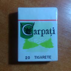 Pachet de tigari carpati ( varianta pt vitrina, fara tigari ) - Ziar