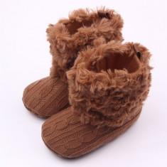 Cizmulite pentru bebelusi - Brown - Cizme copii