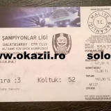 Bilet GALATASARAY ISTANBUL - CFR CLUJ 2012-2013 UEFA CHAMPIONS LEAGUE Fotbal