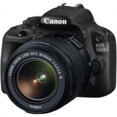 Canon EOS 100D EF-S 18-55 IS STM kit NOU - Aparat Foto Mirrorless Canon