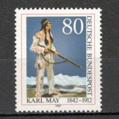 Germania.1987 75 ani moarte K.May-scriitor SG.567 - Timbre straine, Nestampilat