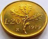 Moneda 20 Lire - Italia, anul 1979 *cod 1216 UNC, Europa