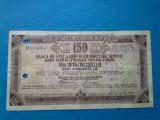Cec calatorie banca de Stat a RPR, 150 lei  - Stampilat Banca din Chisinau