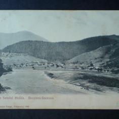 Vederea satului Holda, Brosteni Suceava, expediata de Gr. T Kirileanu - Carte Postala Bucovina 1904-1918, Circulata, Fotografie