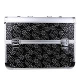 Geanta valiza case manichiura cosmetice manichiuriste makeup bag neagra cristale