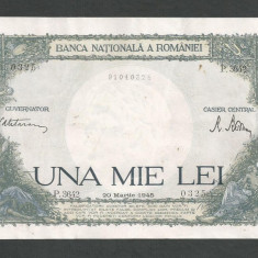 ROMANIA 1000 1.000 LEI 20 martie 1945 fond verde [4] - Bancnota romaneasca