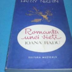 ROMANTA UNEI VIETI IOANA RADU-HARRY NEGRIN, EDITURA MUZICALA 1990 - Carte Arta muzicala