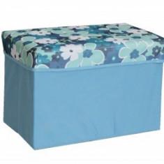 Taburet textil cu cutie de depozitare - Cutie depozitare