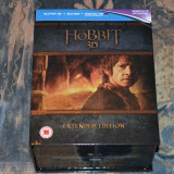 Film - Hobbit Trilogy 3D Extended Edition [3 Filme - 15 Discuri Blu-Ray], Import - Film Colectie warner bros. pictures, BLU RAY 3D, Engleza