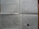 Document romanesc in chirilica din 1842 , cu stampila religioasa