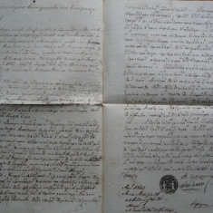 Document in chirilica din 1842