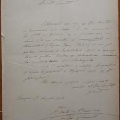 Petitia si schita biografica a scriitorului Valeriu Braniste, Brasov, 1892 - Autograf
