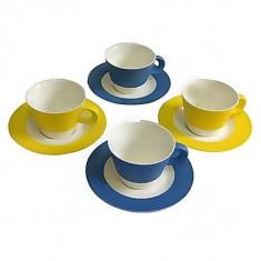 Set Barton Steel BS02-102 pentru servit ceai portelan - Ceasca