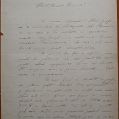 Scrisoare olografa a scriitorului Valeriu Braniste, Brasov, 1892, 6 pagini - Autograf