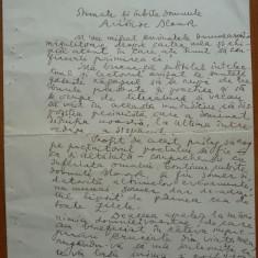 Scrisoare a lui Camil Baltazar catre magnatul evreu Aristide Blanck, 1939 - Autograf