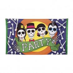 Steag Skull Party Halloween - Carnaval24 - Decoratiuni petreceri copii