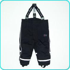 Pantaloni salopeta iarna, impermeabili, POLARN O. PYRET _ copii | 6-12 luni | 80, Marime: Alta, Culoare: Negru, Unisex