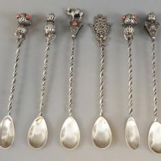 Sase lingurite  Mocca din argint