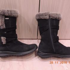 Cizme Geox Shoe Tex marimea 38 piele intoarsa - Cizma dama Geox, Culoare: Negru