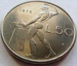 Moneda 50 Lire - ITALIA, anul 1978 *cod 1820, Europa