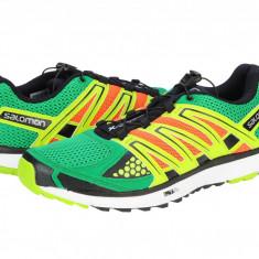 Adidasi alergare barbati Salomon X Scream sinople green-george orange - x/white 366775 - Adidasi barbati Salomon, Marime: 40, 44, 44 2/3, 46 2/3, 47 1/3