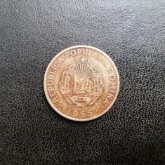ROMANIA-50 BANI 1955 (pe VERSO are 2 zgarieturi unde scrie Romania) - Moneda Romania