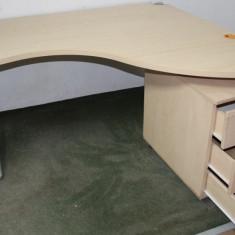Set Birou de colt cu rollbox; Masa de lucru cu structura metalica solida