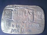 Placheta unifata, 100 ani transport public in Iasi 1898-1998, tramvai