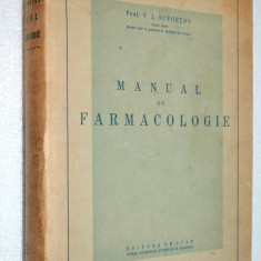 Manual de farmacologie - V. I. Scvortov - 1951 - Carte Farmacologie