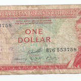 LL bancnota Caraibele de Est 1 dollar 1965 VF
