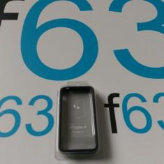 BUMPER SILICON IPHONE 4/4S ORIGINAL - Bumper Telefon, Negru