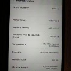 XIAOMI REDMI Note 3 MTK, 3GB RAM, 32GB 4G Octa Core, baterie 4000mAh