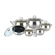 Set oale inox 12 piese Bohmann BH 1206 TF - oala, cratita