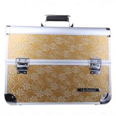 Geanta valiza case manichiura cosmetice manichiuriste make up bag aurie Mare - Geanta cosmetice