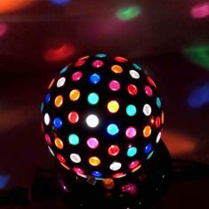 Glob disco rotativ 40W, lumini colorate, 27 cm - Ornamente Craciun