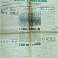 Buna vestire 22 octombrie 1940 legionar Chitila Mota Predeal Sima Manoilescu - Ziar