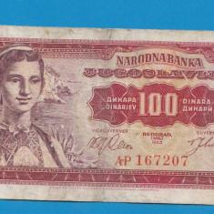 Iugoslavia 100 dinara 1963 - bancnota europa