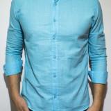 Camasa - camasa bleu - camasa slim fit - camasa in - cod 79, M, Maneca lunga, Din imagine