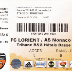 Bilet meci fotbal FC LORIENT - AS MONACO 17.01.2016