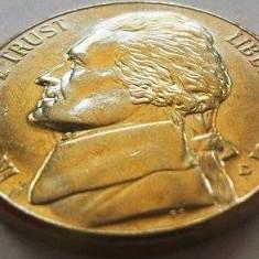 Moneda 5 Centi - SUA, anul 2001 *cod 1878 a.UNC Litera D., America de Nord