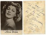 Elvira Godeanu, autograf si dedicatie 1962