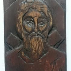 Icoana Sculptata Lemn - Sfantul Apostol Andrei - Icoana pe lemn