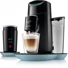 Aparat de cafea cu paduri Philips Senseo Twist and Milk HD7874/60 Negru - Albastru