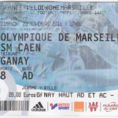 Bilet meci fotbal OLYMPIQUE MARSEILLE - SM CAEN 20.11.2016
