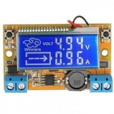 Sursa in comutatie cu voltampermetru LCD, Step-Down IN5-23V OUT0-16,5V 2A MP2307