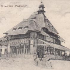 BAILE DE LA MAMAIA ''PAVILIONUL'' ED. LIBRARIEI D. NICOLAESCU CONSTANTA CIRC. - Carte Postala Dobrogea 1904-1918, Necirculata, Printata
