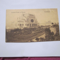 Cp constanta casino portul si parcul anul 1911 circulata - Carte Postala Dobrogea 1904-1918, Printata