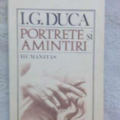 Portrete si amintiri-I.G.Duca