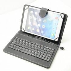 Husa cu Tastatura Tableta 8 inch Universala Black - Husa tableta cu tastatura
