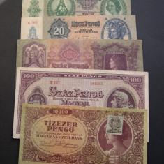 Lot 5 buc. DIFERITE Ungaria pengo 1930 - 1945, Europa